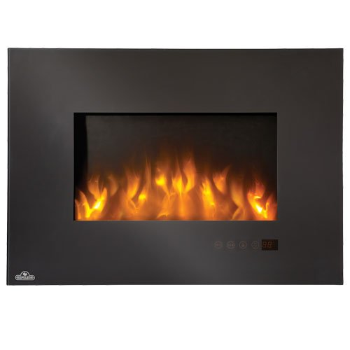 """Linear Wall Mounted Electric Fireplace Size: 32"""""""