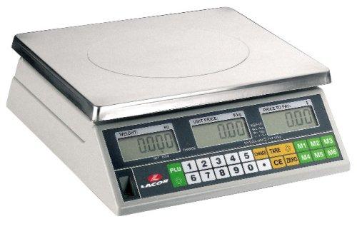 Lacor 61716 Balance Électronique avec Socle Carré 15 Kilos