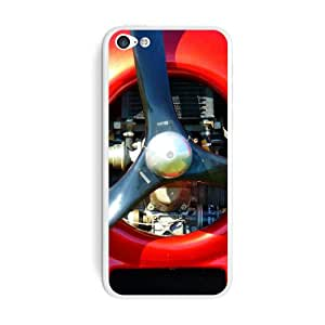 Graphics and More Aircraft Propeller Motor Plane Aviation Protective Skin Sticker Case for Apple iPhone 5C - Set of 2 - Non-Retail Packaging - Opaque