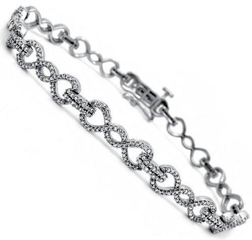 1.90Ct Round Diamond Prong Set Tennis Bracelet 14K White Gold