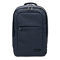15 inch MacBook Pro Laptop CaseCrown Waltham Backpack (Denim Navy Blue) w/ Padded Compartment