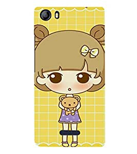EPICCASE Teddy and Girl Mobile Back Case Cover For Micromax Canvas 5 E481 (Designer Case)