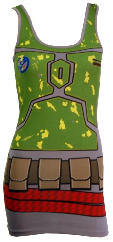 Star Wars I Am Boba Fett Costume Adult Tank Dress Select Size: Medium