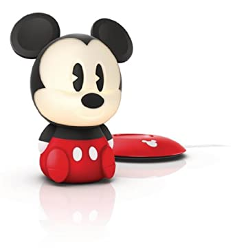 Philips Disney Mickey Mouse SoftPal Guided Night Light and Table Lamp - 1 x 1 W Integrated LED