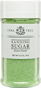 India Tree Green Pastel Sanding Sugar, 3.5 oz (Pack of 3)