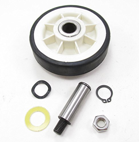 12001541 - Clothes Dryer Complete Drum Support Roller Kit Assembly With Washers And Shaft For Maytag Whirlpool And More from for Maytag Whirlpool Kenmore and more