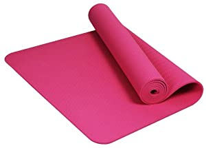 Buy BalanceFrom GoYoga Premium 1 4-Inch Slip Resistant and Waterproof Yoga Mat with Carrying Strap by BalanceFrom