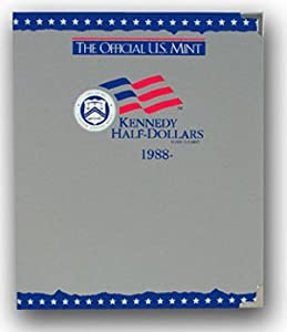 The Official US Mint / Coin Album Kennedy Half Dollars 1988-2000 - By Whitman