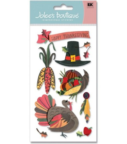 Jolee's Boutique Le Grande Harvest Stickers-Pilgrim Party