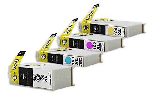 Kompatibel für Lexmark Pinnacle Pro 901 Tinten Sparset schwarz, cyan, magenta, gelb - No.100 XL / 0014N1921E - Inhalt: 1 x 21 ml & 3 x 9,6 ml