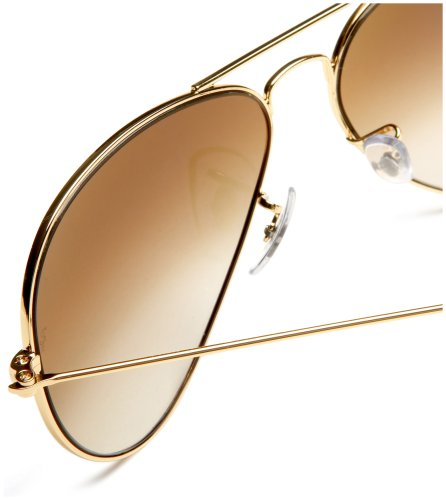 Rb3025 Aviator Sunglasses Gold Frame Crystal Gradient Bl : Ray-Ban RB3025 Aviator Large Metal Non-Polarized ...