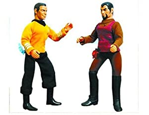 Star Trek: Original Series Mego 'Cloth Retro' Kirk & Klingon Action Figures Set of 2