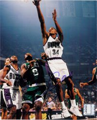 Signed Allen, Ray (Milwaukee Bucks) 8x10 Photo autographed by Powers+Collectibles