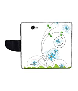 KolorEdge Printed Flip Cover For HTC Desire 516 Multicolor -(50KeMLogo12398HTC516)