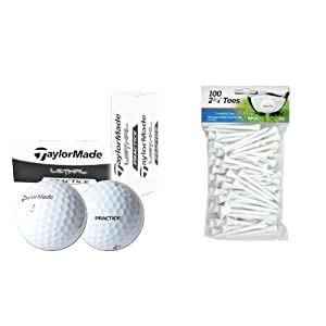 3 Boxes TaylorMade Lethal Practice Balls + 100 Pack INTECH Golf Tees