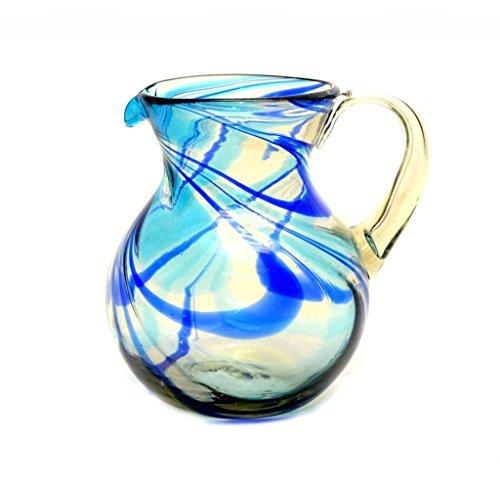 aqua-and-cobalt-swirl-ball-pitcher-handmade-80-ounces-by-laredo-import