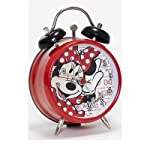 Minnie Mouse Mini Twin Bell Clock