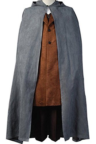 [Cosdaddy® The Lord of the Rings Frodo Baggins Cosplay Costume (Man-L)] (Frodo Costume Mens)