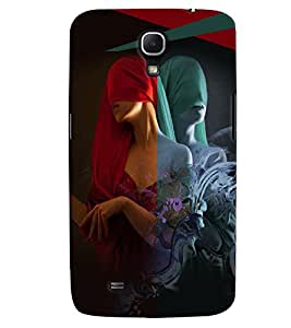 PrintVisa Stylish Cool Girl Modern Art 3D Hard Polycarbonate Designer Back Case Cover for Samsung Galaxy Mega 6.3