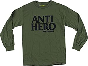 Anti Hero Blackhero Military Green / Black Large Long Sleeve Shirt