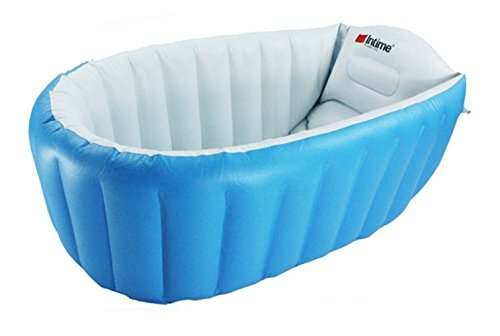 L&FY Inflatable Baby bathtub Plastic Mini Air Swimming Pool Kids Thick Foldable Shower Basin (Blue) (Baby Bath Air Tub compare prices)