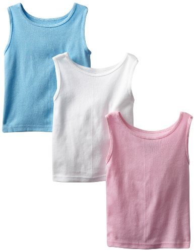Fruit Of The Loom Little Girls' 3 Pack Wardrobe Tank,Assorted,4T front-1026730