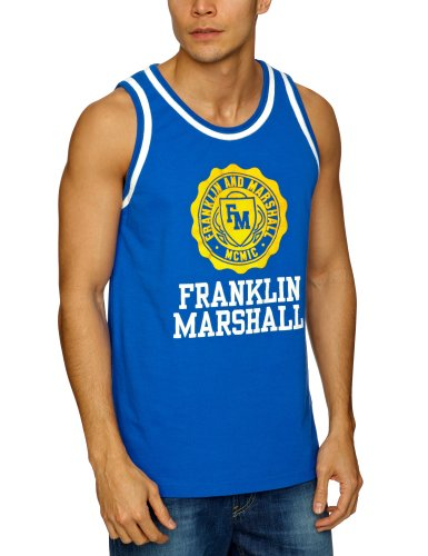 Franklin & Marshall TOMR770S13 Men's Vest Bluette X-Large