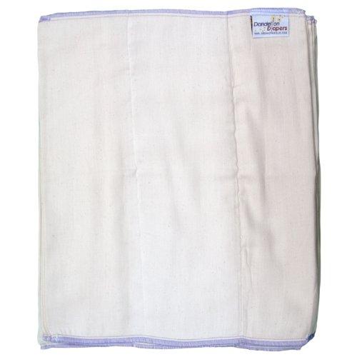 Dandelion Diapers 100% Organic Cotton Dsq Prefolds Half Dozen - Size 5