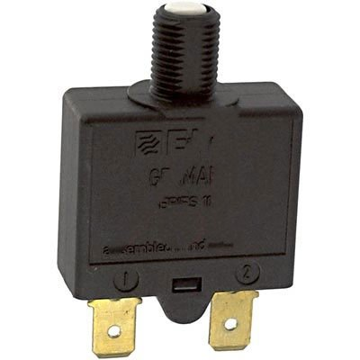 E-T-A Circuit Protection and Control 1658-G21-01-P10-15A , Circuit Breaker; Therm; Push; Cur-Rtg 15A; Flange; 1 Pole; Vol-Rtg 240/28VAC/VDC