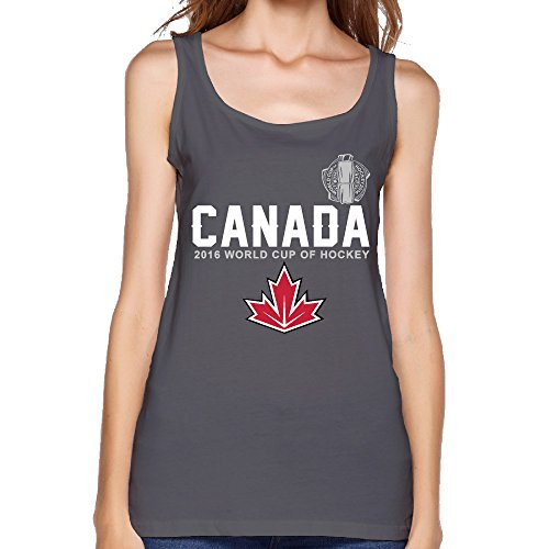 ALIMN Women's Canada Hockey 2016 World Cup Of Hockey Pride Jersey Tank Top DeepHeather (Team Canada Hockey Jersey 2014 compare prices)