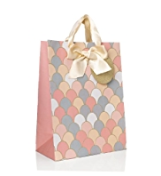 Large Glitter Scalloped Gift Bag