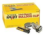 "School Smart Nickel Plated Steel Magnetic Clip, 2"" L (Pack of 12)"