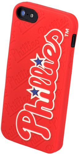 Special Sale Forever Collectibles Philadelphia Phillies Team Logo Silicone Apple iPhone 5 & 5S Case