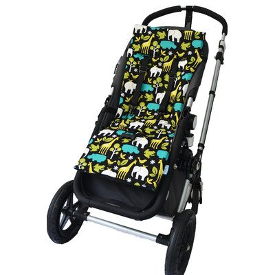 Plush Reversible Stroller Liner Pattern: At The Zoo front-330947
