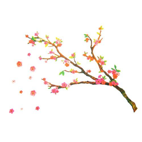 Falling Flowers - Large Wall Decals Stickers Appliques Home Decor