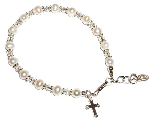 Sterling Silver Children's First Communion Bracelet