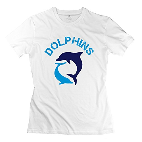ZZY Geek Dolphins T Shirt - Women's Tee White