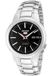 Seiko 5 Men's SNKA07 Automatic Black Dial Stainless Steel Watch