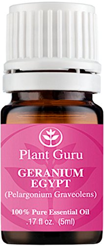 Geranium Egypt Essential Oil. 5 ml. 100% Pure, Undiluted, Therapeutic Grade. Sample Size