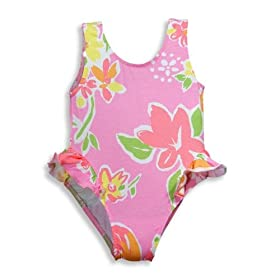 Girlfriends by Anita G - Infant Girls One Piece Bathing Suit, Pink, Salmon
