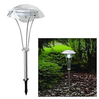 fagl light 3 led solar power white outdoor garden pathway landscape