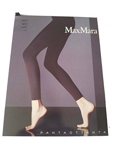 MAX MARA hosiery PANTAOTTANTA leggins in microfibra 80 denari NERO L