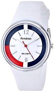 Armitron Unisex 25/6417WHT White Resin Strap Analog Sport Watch