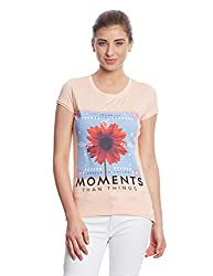 Madame Women's Body Blouse Top (M1551229_Peach_Medium)