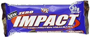 VPX Zero Impact Meal Replacement Bar, German Chocolate, 3.5 Ounce (Pack of 12)