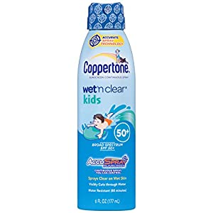 Coppertone Wet 'n Clear Kids SPF 50 Spray, 6 Fluid Ounce