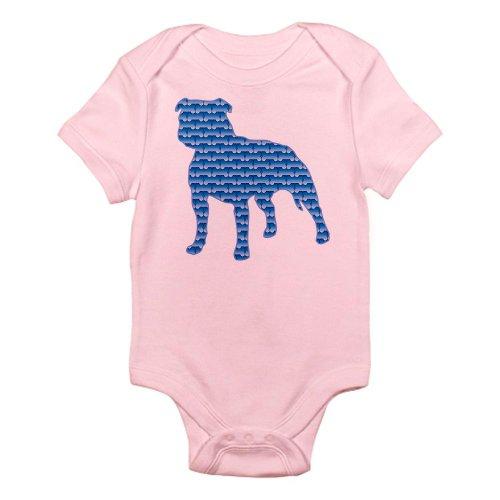 Cafepress Bone Staffordshire Infant Bodysuit - 0-3M Petal Pink