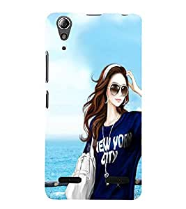 Vizagbeats girl with goggles Back Case Cover for Lenovo A6000 Plus