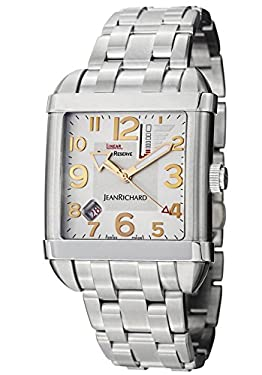 JeanRichard Paramount Square Linear Power Reserve Men's Silver Dial Automatic Watch 62118-11-11A-11A