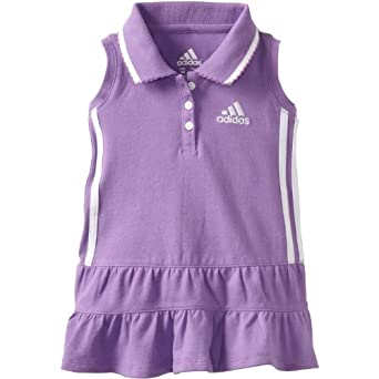 Adidas Girls 2T-4T Ace Polo Dress (4T, Purple)